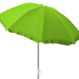 Sonnenschirm rund Ø2m lime grün Polyester knickbar UV Schutz