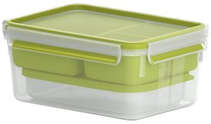 emsa XL Lunchbox CLIP & GO 2,3 Liter transparent / grün