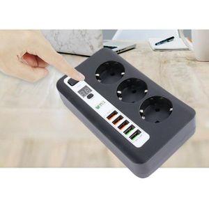 3 Fach mit 5 USB Port Steckdosenleiste 3.4 A Steckdosen Strom Verteiler Socket