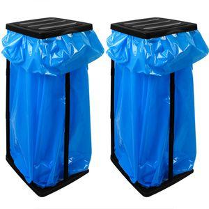 2 Müllsackständer für Müllsäcke max. 60 Liter - 70x35x30cm