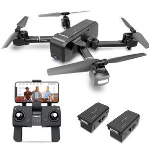 DEERC DE25 Faltbare GPS Drohne Schwarz 1080P Full HD Kamera Tap Fly Active Track Gestensteuerung