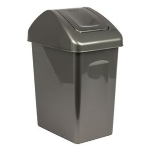 Mülleimer Mülltonne Abfalleimer Mülltrenner 10L Schwingdeckel anthrazit