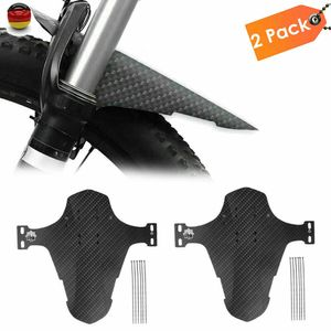 Melario 2x Set Fahrrad Mudguard Schutzblech Spritzschutz MTB Vorn Hinten Schutz Fender