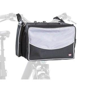 TRIXIE Haustier-Frontbox für Fahrräder 41x26x26 cm Schwarz und Grau