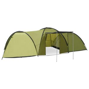 CampFeuer Tunnelzelt Camping-Igluzelt 650×240×190 cm 8 Personen Grün