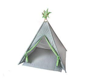 Tipi-Zelt, Kinderzelt, Spielzelt, Babyblume TIPI Zelt Sterne, inkl. Sitzdecke zweifarbig