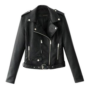 Frauen Damen Revers Motor Jacke Mantel Zip Biker Short Punk Cropped Tops Größe:S,Farbe:Schwarz