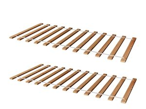 2ER SET Rollrost Lattenrost Rolllattenrost 90 x 200 cm Massivholz