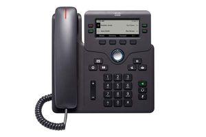 Cisco CP-6841-3PW-UK-K9=, IP-Telefon, Schwarz, Kabelgebundenes Mobilteil, Tisch/Wand, 4 Zeilen, Digital