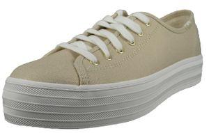 Keds Damen Low Sneaker Triple Kick Metallic WF65082 Goldfarben  Gold Textil, Groesse:40 EU