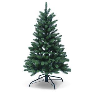 DILUMA | Weihnachtsbaum Künstlich 120 cm | Premium Künstlicher Christbaum aus 100% PE Spritzguss | B1 Zertifikat schwer entflammbar | Voll-PE Tannenbaum mit Metall Standfuß & Modularem Stecksystem
