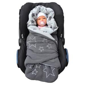 Lilly and Ben® Einschlagdecke |  Decke in 2 Varianten für Winter oder Übergang | Erstausstattung für Kinderwagen & alle Gurtsysteme I Sicherer Pucksack für Babys 0-10 Monate