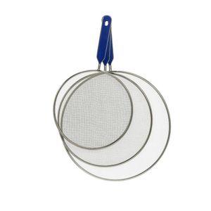 Pfannen Spritzschutzdeckel | 3 TLG. Set | Spritzsieb aus Edelstahl | Ø 20, 25, 28 cm | Spülmaschinengeeignet