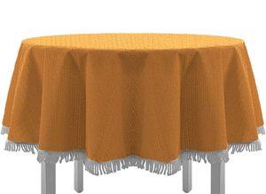 Gartentischdecke mit Fransen Tischdecke rund oval eckig Classic 130x180 cm eckig orange