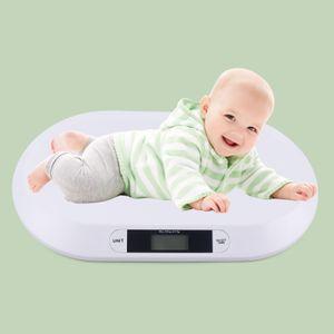 Babywaage Baby elektronische Skala mit LCD-Display Wägekapazität 20kg mit Handtuch + Lineal für Baby/Kätzchen/Welpen Weiß