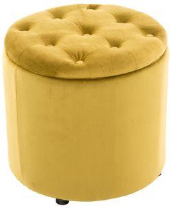 CLP Sitzhocker Pantin Samt mit Stauraum, Farbe:gelb