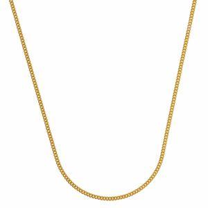 0,8 mm 50 cm 585 - 14 Karat Gelbgold Panzerkette massiv Gold hochwertige Halskette 1,3 g