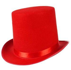 Zylinder Hut Kind mit Satinband Top Hat Partyhut für Zauberer Karneval Fasching-55cm