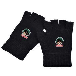 J-My Hero Academia Boku No Hero Academia Fingerlose Halbfingerhandschuhe,Handschuhe, Im Winter warm halten