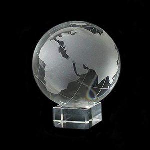 Glas Globus Weltkugel auf Sockel Vollglas
