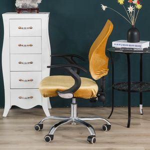 Samt Bezug Hussen Sitzbezug für Bürostuhl Chefsessel Schreibtischstuhl, 8 Gelb wie beschrieben