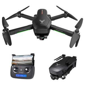 SG906 PRO Drohne mit Kamera GPS RC 4K 5G Wifi 2-Achsen Gimbal 25 Minuten Flugzeit Bürstenloser Quadcopter Follow Me MV Gestenfoto mit tragbarem Gehäuse