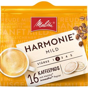 Melitta Kaffeepads Marmonie Mild Röstung 16 Pads 112g 5er Pack