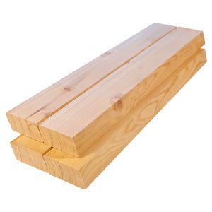 Rhombusleisten Massivholz Sibirische Lärche 2,8x6,8x400 cm 8-er Pack Sort. BC