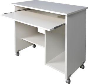 Germania Computertisch auf Laufrollen in Weiß, 0482-84