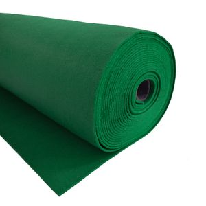 Bastelfilz 1m Meterware Filz 90cm x 1,5mm Dekofilz Taschenfilz Filzstoff 39 Farben, Farbe:grün