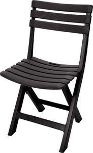 Klappstuhl aus stabilem Kunststoff - anthrazit - 042980640