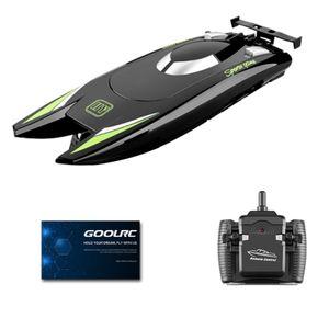 RC-Boote Wasserspielzeug 25 km / h Hochgeschwindigkeits-Rennboot 2-Kanal-Fernbedienungsboote zum Pools Rennboot