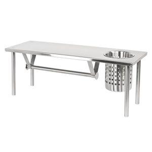 bremermann Küchenregal mit Rollenhalter und Utensilienhalter, Edelstahl