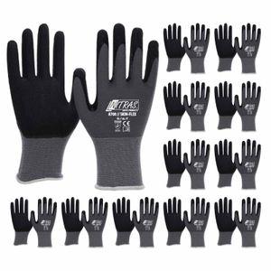 NITRAS 8700 Skin-Flex Strickhandschuh mit schwarzer Spezialbeschichtung für Feinmontage - VPE 12 Paar Größe:10