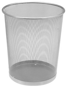 Papierkorb Metall - Farbe: silber 414270