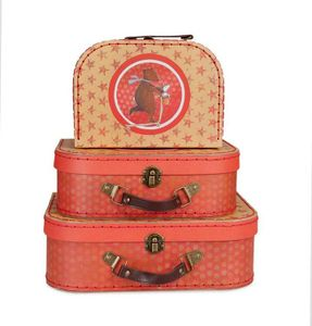 Egmont Toys Kinder-Kofferset, Spielkoffer, Spielzeugkoffer, 3-teilig, Motiv: Max, ca. 20 x 25 x 29 cm