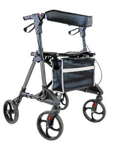 FabaCare Leichtgewichtrollator Omni, Rollator faltbar, Gehwagen mit Vollausstattung