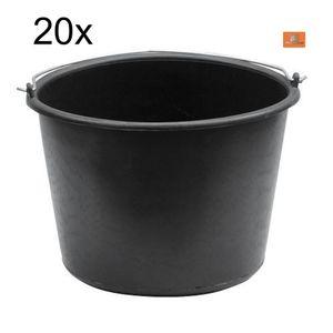20x Baueimer 12 Liter PVC literskala Putzeimer Farbeimer Malereimer Mörteleimer