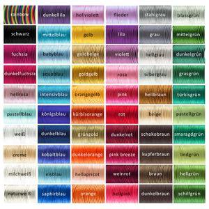 90m Satinschnur 2mm Satinkordel Schmuck-Kordel -Schnur Kumihimo Bänder, Farbwahl, Farbe:weiß