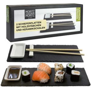 Moritz & Moritz Schieferset Lemon Grass - Schiefer Sushi Set
