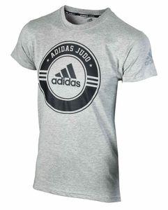 adidas Judo Community Line 'Circle' T-Shirt Grau - Unisex - Kinder 275, Größe:152