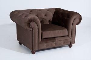 Max Winzer Orleans Sessel - Farbe: braun - Maße: 135 cm x 100 cm x 77 cm; 2911-1100-2044201-F07