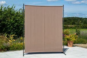 Merxx Sichtschutz breit - Stahlgestell mit Textil taupe - 26930-325