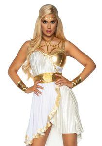 Göttin-Kostüm für Damen Griechin-Kostüm mit Accessoires weiss-gold