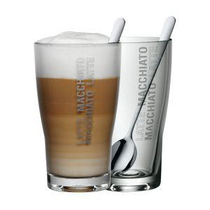 WMF Latte Macchiato Set Barista 2 Gläser mit 2 Löffel