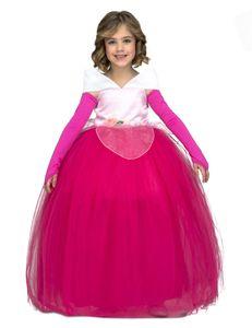 Prinzessin-Kostüm für Mädchen Ballkleid Faschingskostüm pink