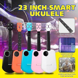 Xiaomi Populele 2 23 Zoll USB Smart Ukulele Kohlefaser APP-Steuerung Bluetooth 4.0 Ukulele mit LED-Lampenperlen Farbe: Schwarz