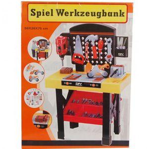 45 tlg. Werkbank mit Zubehör Spielzeug Werkzeug Bank Kinder Kinderwerkbank Werkbank