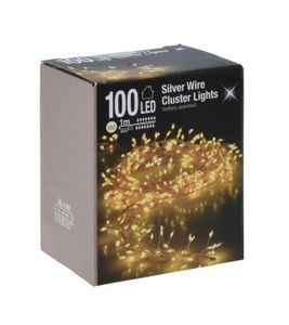Silver Wire CLUSTER Lights - 100 LED / 1m