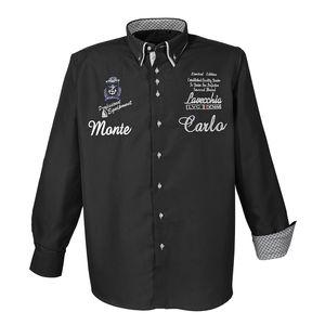 LAVECCHIA Herren Hemd Schwarz Große Größen, Größe:3XL